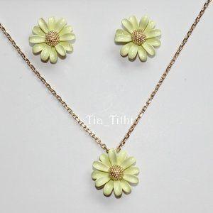Kate Spade Flower Earrings and Mini Pendant Set